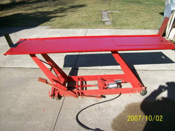 motorcycle lift table 1000 lbs for sale in taylor michigan. Black Bedroom Furniture Sets. Home Design Ideas
