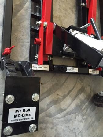 Pitbull Motorcycle 1450lb Lift Jack For Sale In Fort Mill